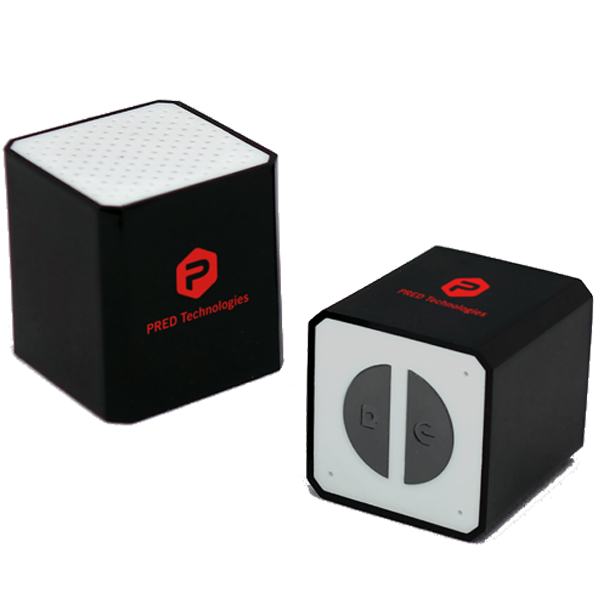 cube stereo pred technologies smallest stereo bluetooth speaker. Black Bedroom Furniture Sets. Home Design Ideas